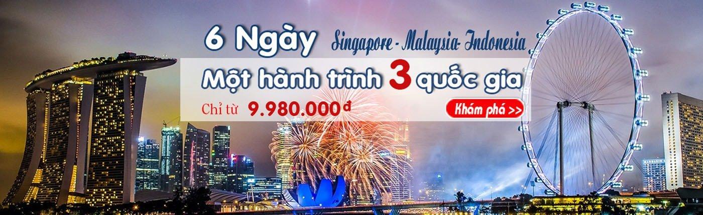 Du lịch Singapore Malaysia Indonesia