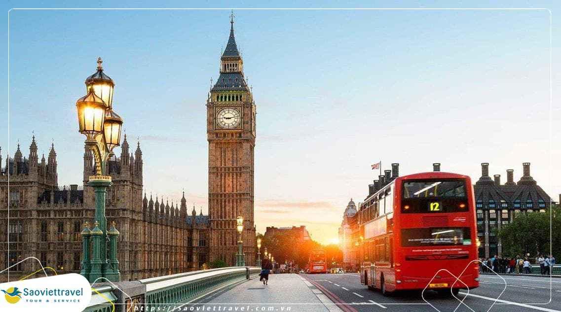 Du Lịch Anh: Hà Nội – London – Winsor – Bath – Liverpool 7 Ngày từ Hà Nội
