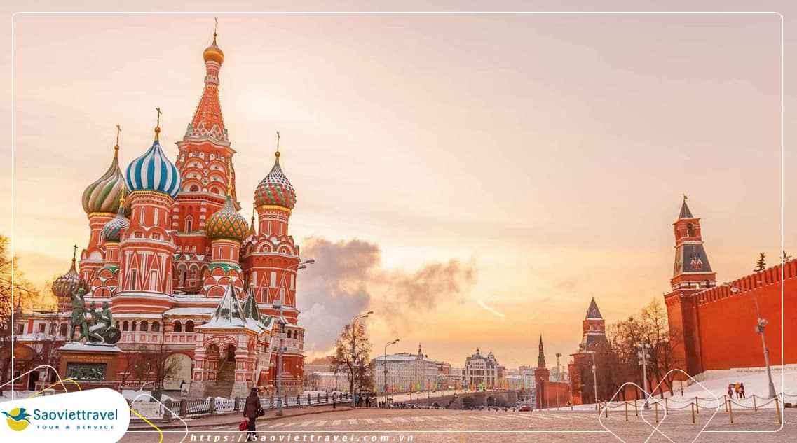 Du lịch Nga Hồ Chí Minh – Moscow – St.Petersburg – Hồ Chí Minh 8 Ngày