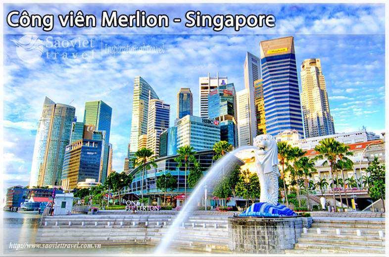 Du lịch Singapore - Công Viên Sư Tử