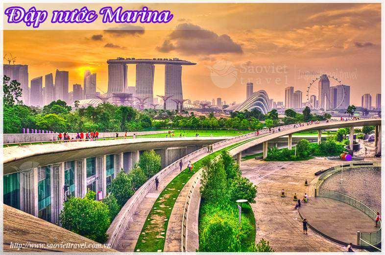 Du lịch Singapore - Đập nước Marina