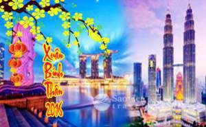Du lịch Singapore – Malaysia – Indonesia tết Bính Thân 2016 giá tốt nhất