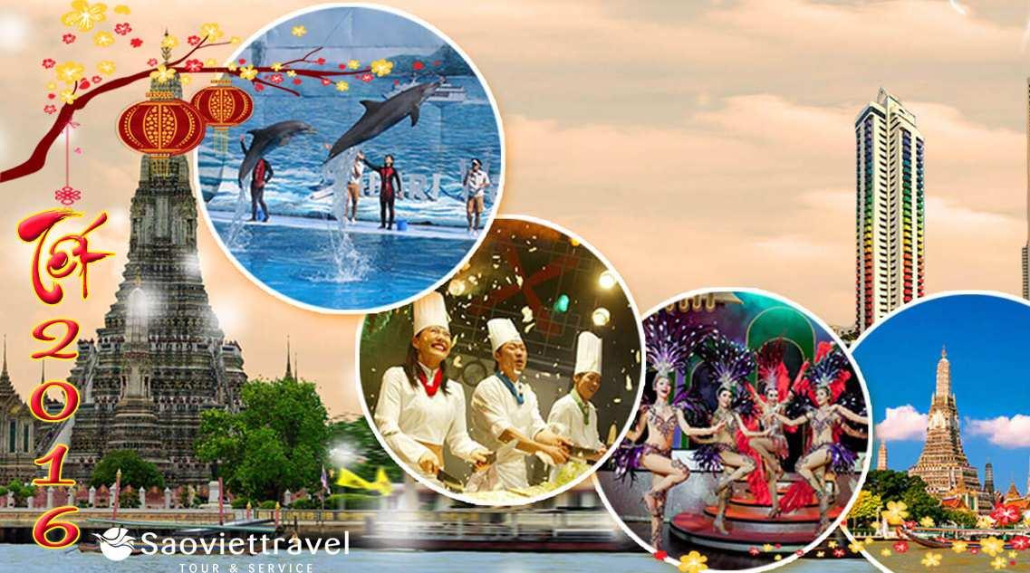 Du lịch Thái Lan 5 ngày 4 đêm dịp Tết Bính Thân 2016 Giá Tốt
