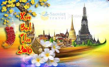 Du lịch Thái Lan 5 ngày 4 đêm dịp Tết Âm Lịch 2016 giá tốt từ TP.HCM