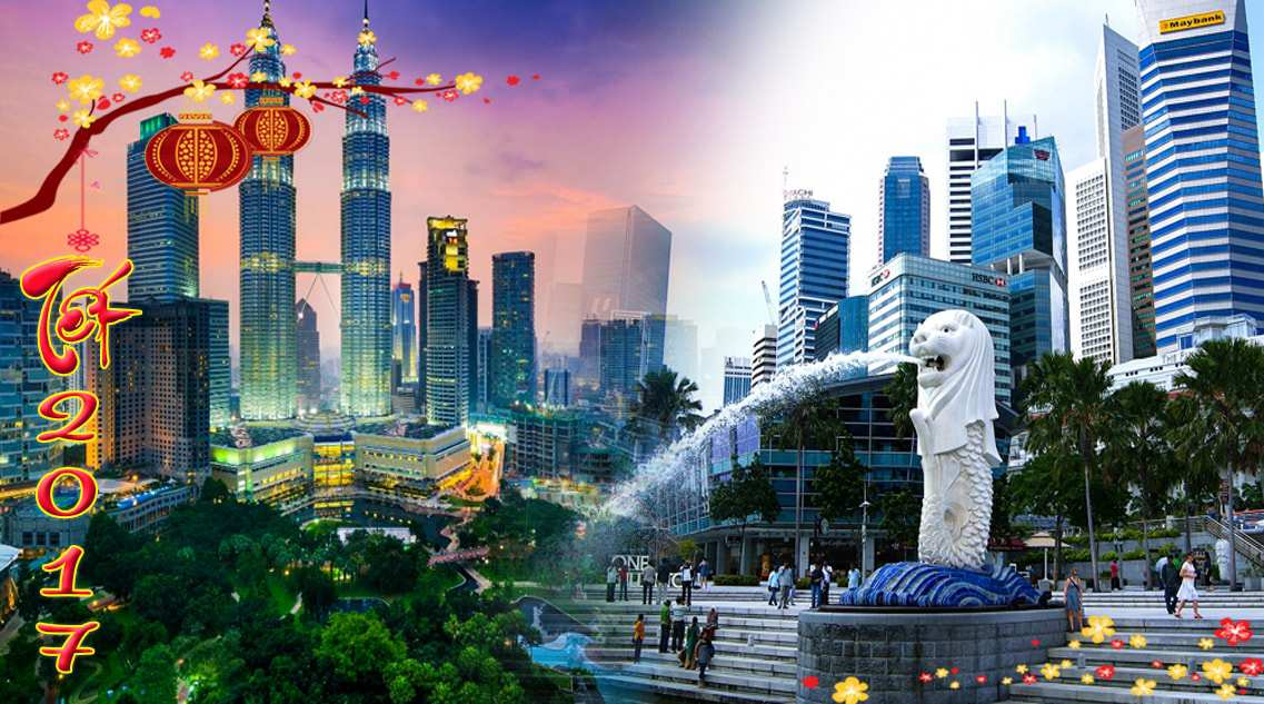 Du lịch Singapore – Malaysia – Tết âm lịch 2017 từ Hà Nội – tặng khách sạn 4 & 5 sao