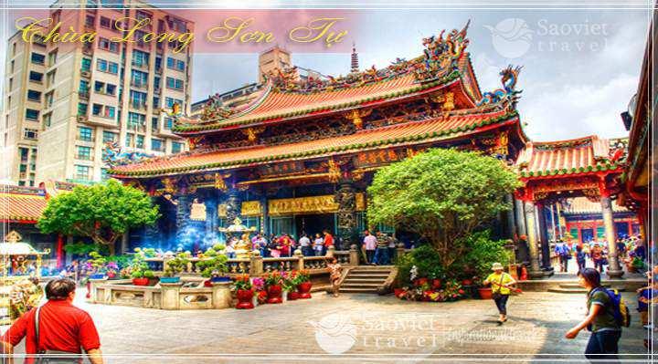 Du lịch Đài Loan - Chùa Long Sơn Tự - Công ty du lịch Saoviettravel