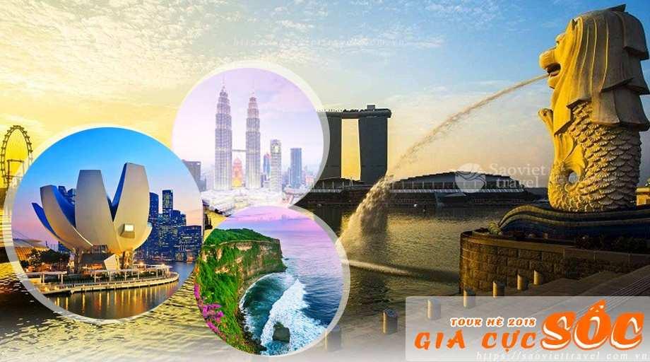 Tour Du Lịch 3 Nước Sing Malay Indo dịp hè 2018 giá tốt từ Sài Gòn