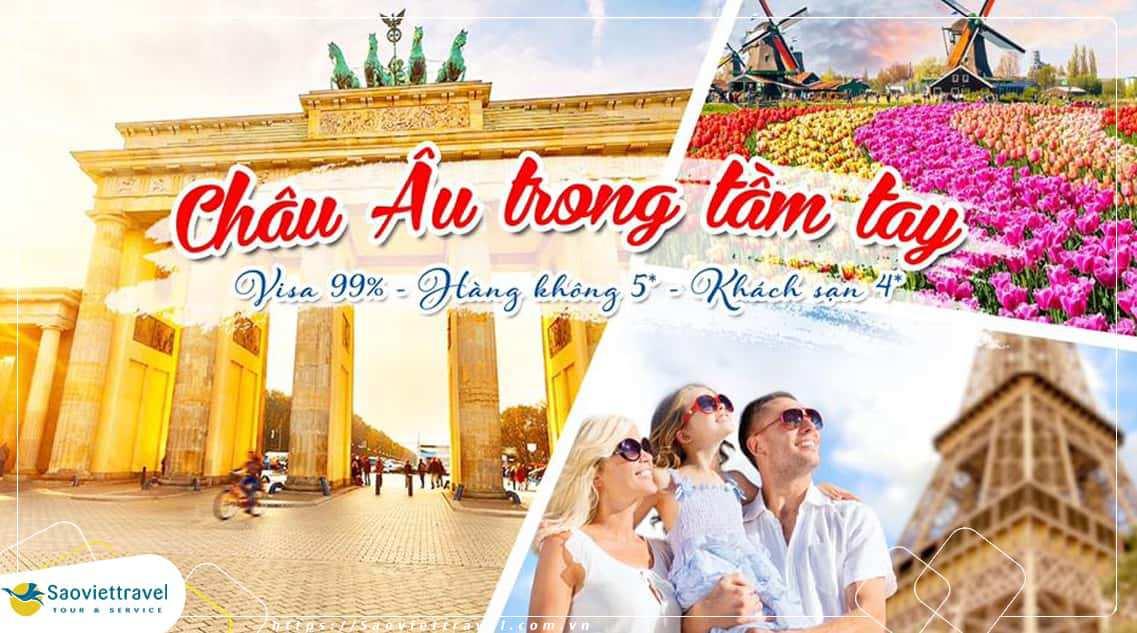 Du lịch Châu Âu 7 ngày Pháp – Bỉ – Hà Lan từ Sài Gòn giá ưu đãi 2018
