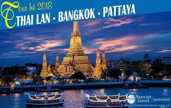 Du lịch Thái Lan Bangkok – Pataya 5 ngày 4 đêm giá tốt 2018 từ Sài Gòn