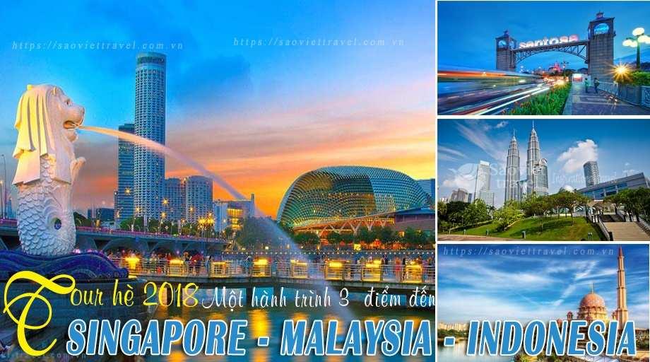 Du lịch hè Sing – Malay – Indo 6 ngày khởi từ Hà Nội giá tốt 2018
