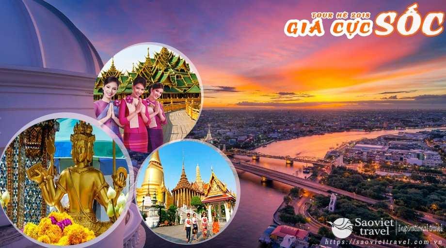 Du lịch Thái Lan 5 ngày Bangkok – Pattaya giá tốt dịp hè 2018