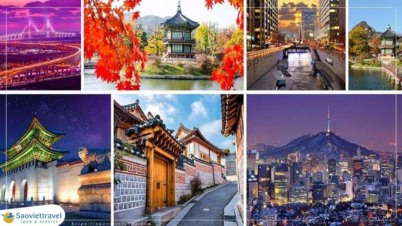 Du lịch Hàn Quốc 4 ngày 4 đêm giá tốt từ Tp.HCM KS 5sao