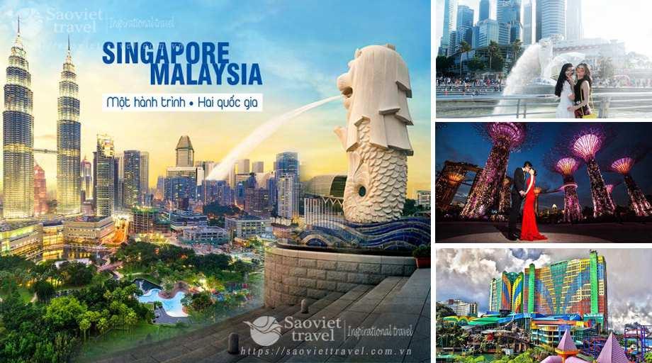 Du lịch Singapore Malaysia 6 ngày giá ưu đãi hè 2018 từ Hà Nội