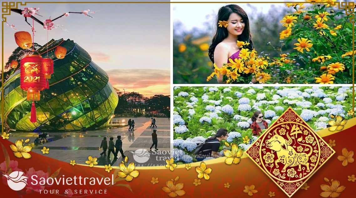 Du lịch Đà Lạt 3 ngày 2 đêm dịp Tết Âm Lịch 2021 khởi hành từ Sài Gòn