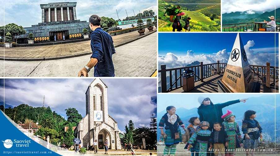 Tour Hà Nội – Sapa – Hàm Rồng – Chinh Phục Đỉnh Fansipan 3 ngày giá tốt từ Sài Gòn