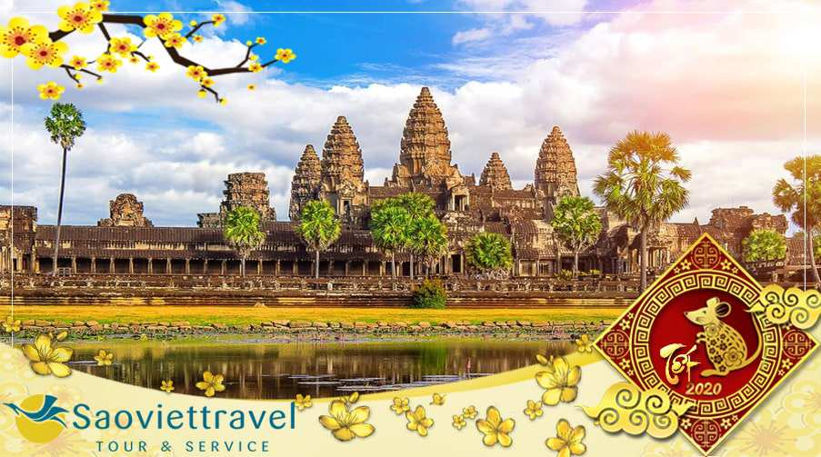 Du lịch Tết âm lịch 2020 Campuchia Siem Reap – Phnom Penh giá tốt từ Sài Gòn