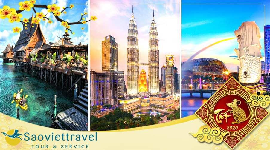 Du lich tết 2020 Singapore Malaysia Indonesia giá tốt từ Hà Nội