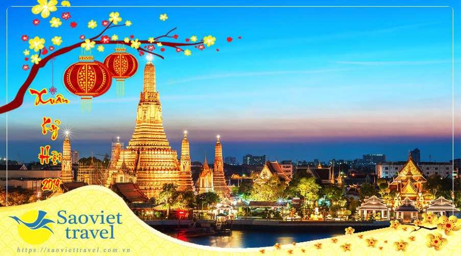 Du lịch Thái Lan 5 ngày dịp Tết Nguyên Đán 2019 giá tốt từ Sài Gòn