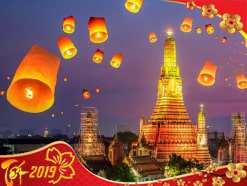 Tour Thái Lan tết Nguyên Đán 2019 giá ưu đãi đặc biệt từ Sài Gòn
