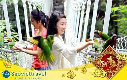 Du lịch Singapore tết âm lịch 2020 Garden By The Bay – Vườn Chim Jurong 4 ngày giá tốt từ Sài Gòn