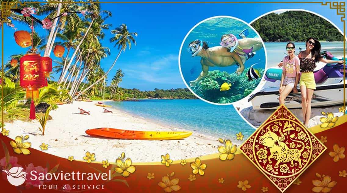 Du lịch Tết Tân Sửu 2021 – Tour Phú Quốc 3 ngày 2 đêm khởi hành từ Hà Nội giá tốt
