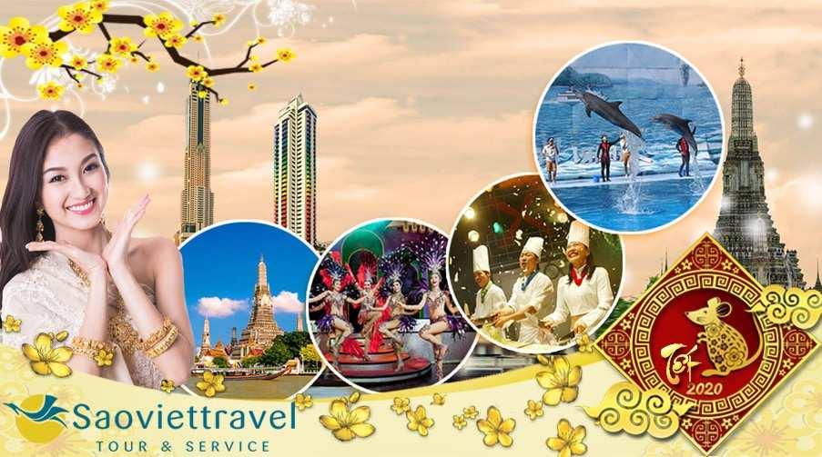 Du lịch Thái Lan Tết âm lịch 2020 Hà Nội – Bangkok – Pattaya 5 ngày giá tốt từ Hà Nội Bay FD