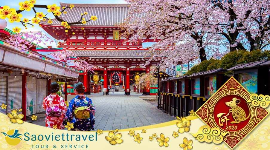 Du lịch Nhật Bản Tết Âm lịch 6 ngày 5 đêm từ Sài Gòn giá tốt 2021