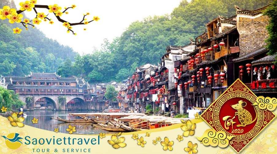 Tour Trung Quốc Tết Nguyên Đán 2021 – Trương Gia Giới – Thành cổ Phượng Hoàng 5N4Đ từ Sài Gòn giá tốt