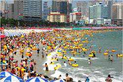 Du Lich Hàn Quốc bãi biển Haeundae