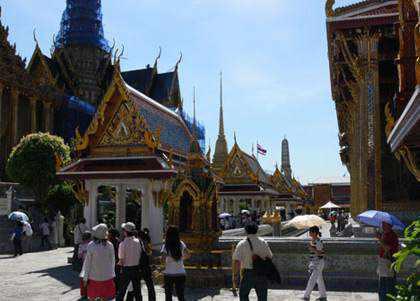 Khach du lich o Thai Lan
